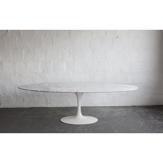 Eero Saarinen Marble Tulip Dining Table Chairish - Black marble tulip dining table