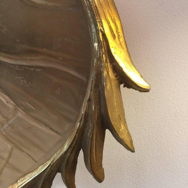 Resin Tortoise Shell in Gilt Metal Wall Light in the Manner of Tony Duquette For Sale - Image 4 of 6