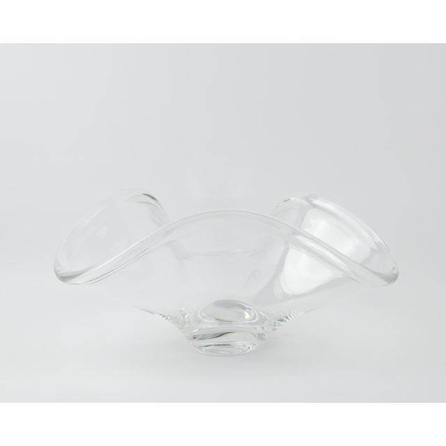 Art Deco Rosenthal Crystal Rounded Wave Bowl For Sale - Image 3 of 12