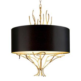 Florentine Antique Gold Leaf Lamp For Sale