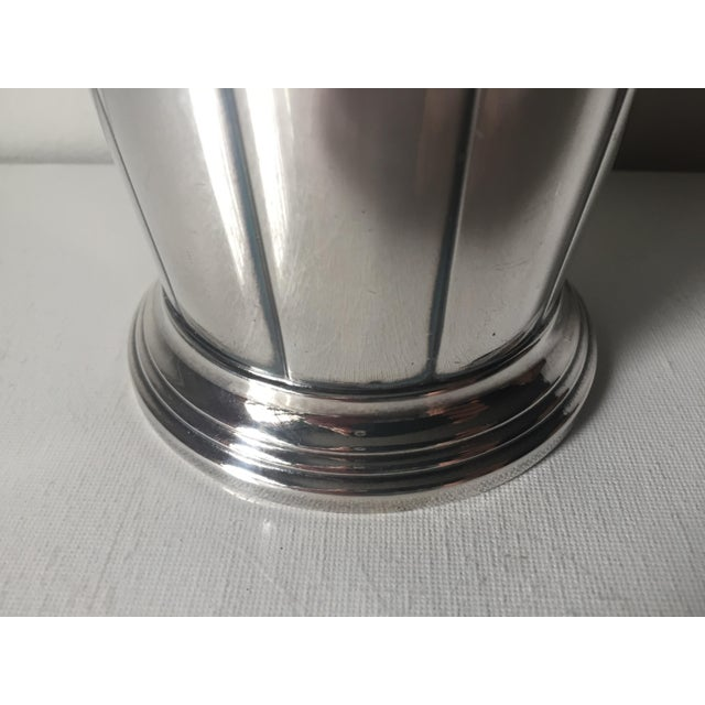 Metal Art Deco Silver Cocktail Shaker For Sale - Image 7 of 10
