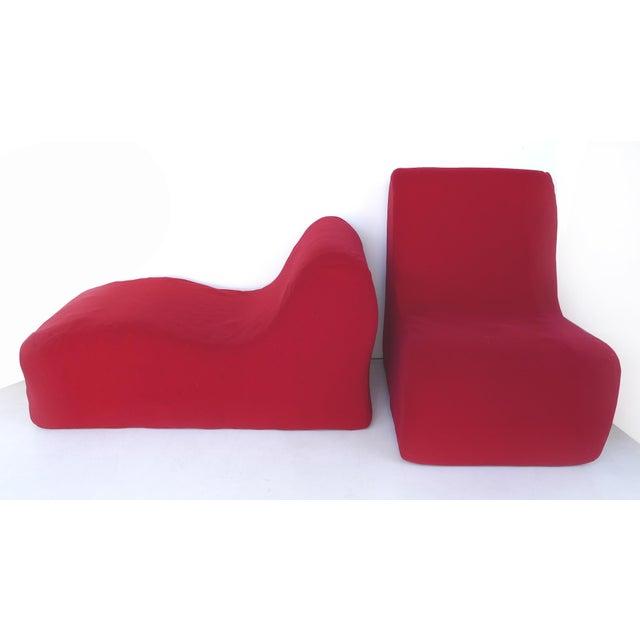 Knoll Knoll Roberto Matta Malitte Modular Lounge Furniture - Set of 5 For Sale - Image 4 of 9