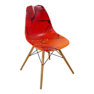 Fel Signed Contemporary Red Art Chair For Sale