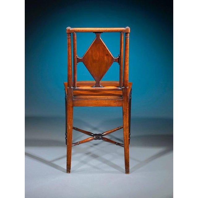 George III Mahogany Hall Chairs - A Pair For Sale - Image 4 of 6