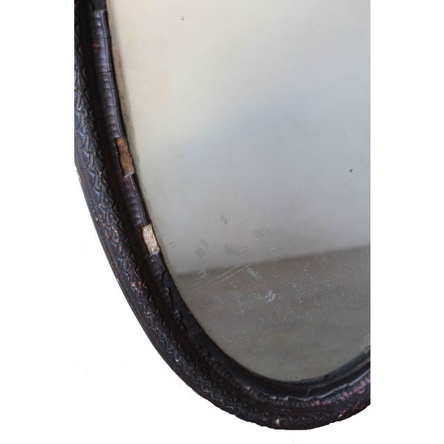 Antique Oval Mirror For Sale - Image 4 of 10
