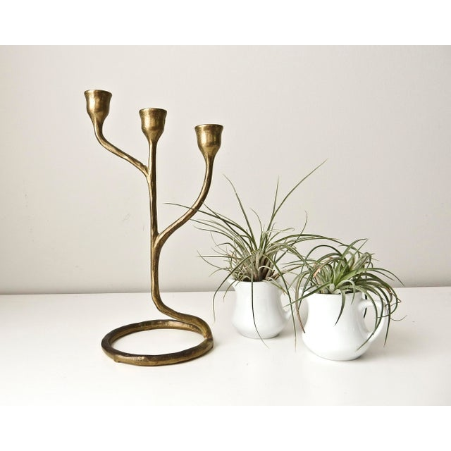 Modern Solid Brass Candlestick - Image 3 of 6