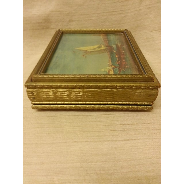 1950s Final Price! Wooden Trinket Box For Sale - Image 5 of 6