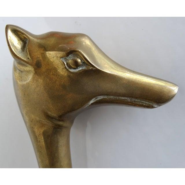 Brass Dog Septer Objet D'Art Paperweight - Image 5 of 6