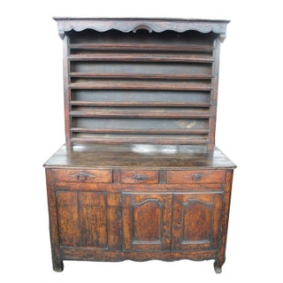 18th Century Rustic French Country China Hutch Cupboard Sideboard Buffet Preview