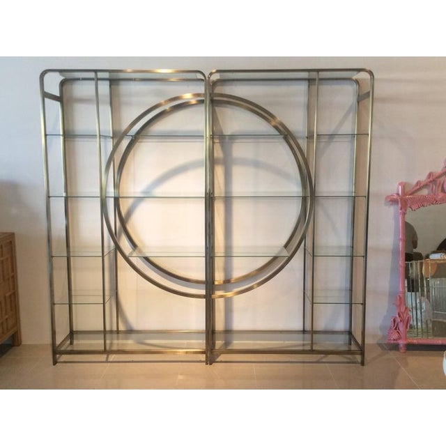 Design Institute of America Milo Baughman Vintage Brass Etagere Shelves - A Pair For Sale - Image 5 of 11
