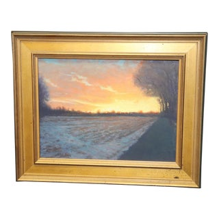 """Sunset""Acrylic Painting by Michael Budden For Sale"