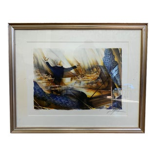 Custom Framed Signed Orchestra Watercolor Serigraph For Sale