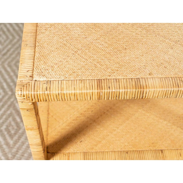 Modern Woven Rattan Side Table For Sale - Image 4 of 6