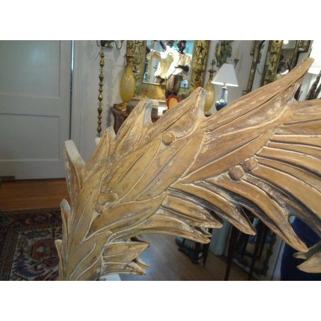 Glass Vintage Dorothy Draper Style Palm Frond Mirror For Sale - Image 7 of 12