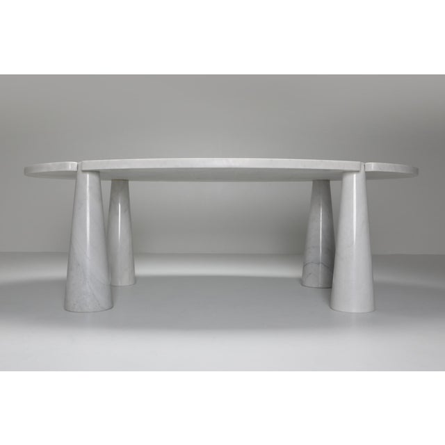Carrara Marble Dining Table by Angelo Mangiarotti - 1970s For Sale - Image 6 of 13