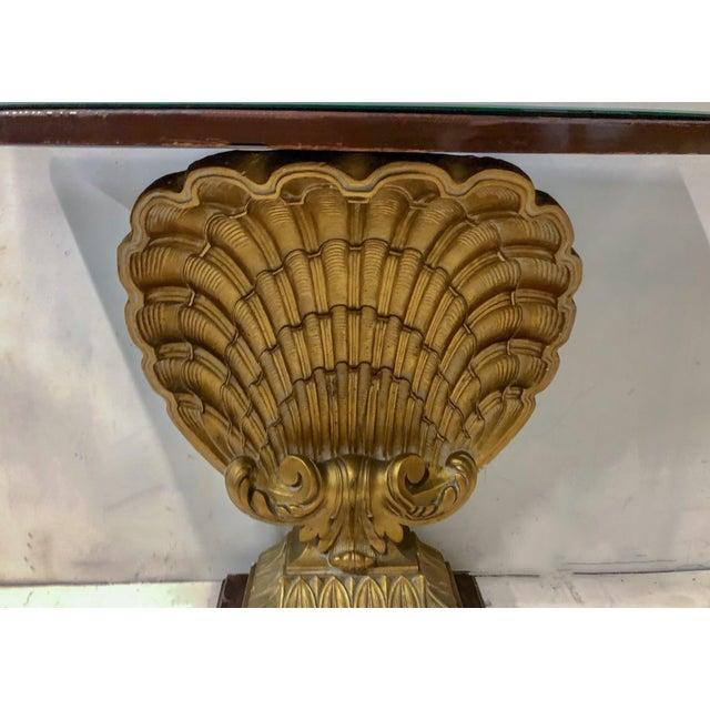 Hollywood Regency Shell Console Table Att. Grosfeld House For Sale In Atlanta - Image 6 of 7
