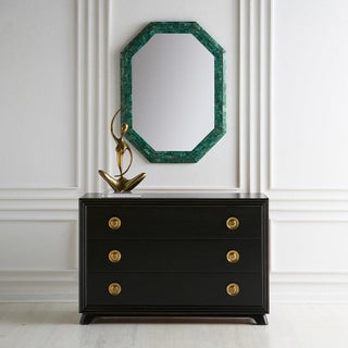 Tessellated Green Marble Mirror by Maitland Smith Preview