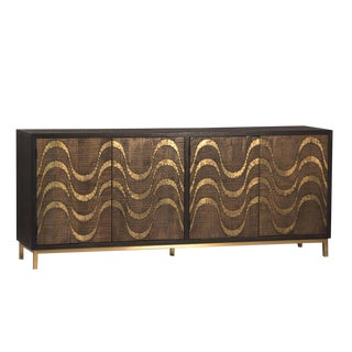 Brass Waves Sideboard
