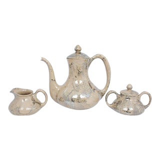 Sascha B. Marbleized Tea Set, 3 Pcs