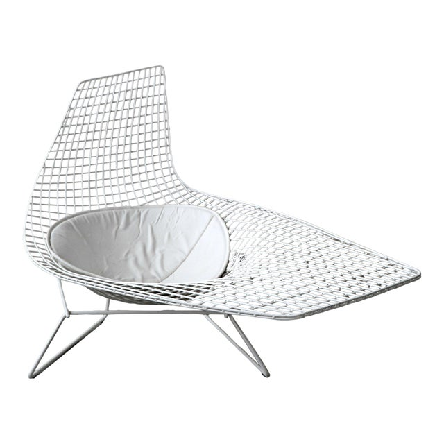 Authentic Knoll Bertoia Asymmetric Chaise For Sale