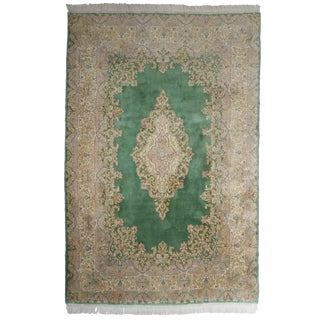 """RugsinDallas Hand Knotted Wool Persian Kerman Rug - 6'1"""" X 8'5"""" For Sale"""