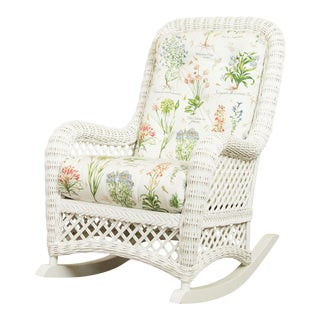 Lane Venture White Wicker Four Seasons Rocker For Sale