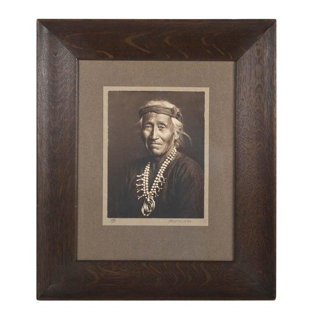 Native American Carl Moon Photograph of Pesothlanny Circa 1907 For Sale - Image 3 of 3