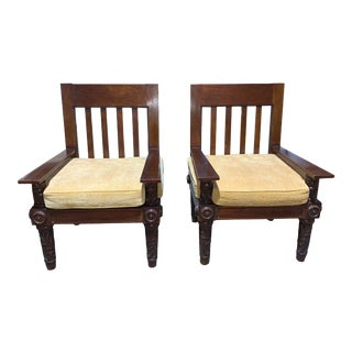 Ralph Lauren British Colonial Craftsman Style Chairs - a Pair For Sale