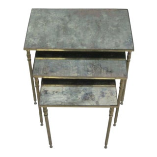 Three French Modern Neoclassical Nesting Tables by Maison Jansen