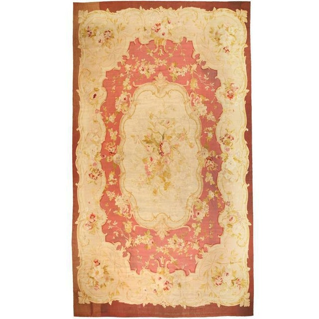 Antique Oversize 19th Century, French Aubusson Carpet - Image 2 of 2