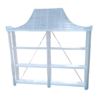 White Pagoda Handmade Bamboo Wood Etagere Shelf Cabinet For Sale