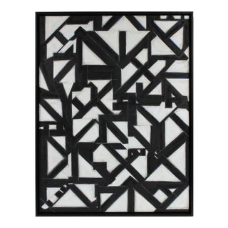 "2017 ""Native Gold Iv"" Large Monochrome Geometric Abstract Painting"