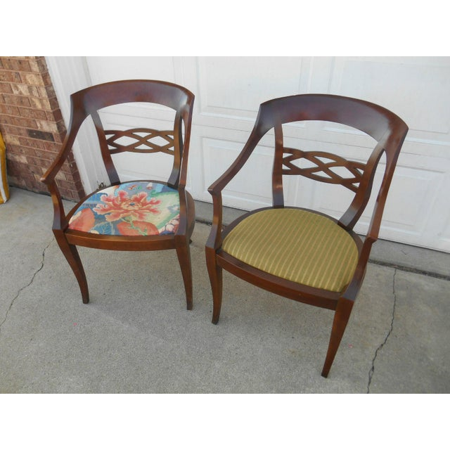 Vintage Baker Furniture Biedermeier Style Dining Chairs - A Pair - Image 3 of 7