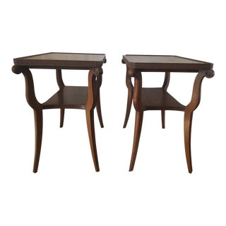Hollywood Regency Side Tables - a Pair