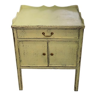 Spanish Shabby Chic Yellow Chest For Sale