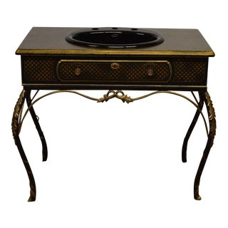 Bathroom Gilted Metal Vanity
