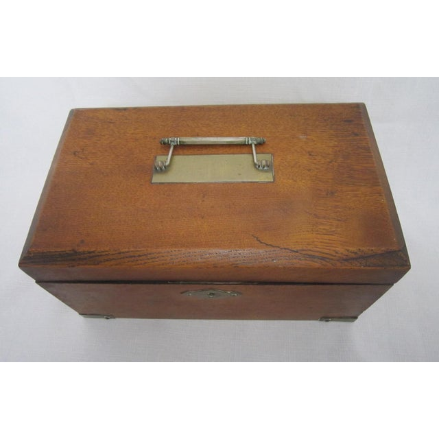 Rustic Walnut Humidor Box For Sale - Image 3 of 6