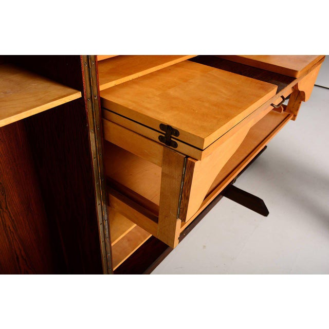 1960s Rosewood Hideaway Desk Cabinet For Sale - Image 5 of 7