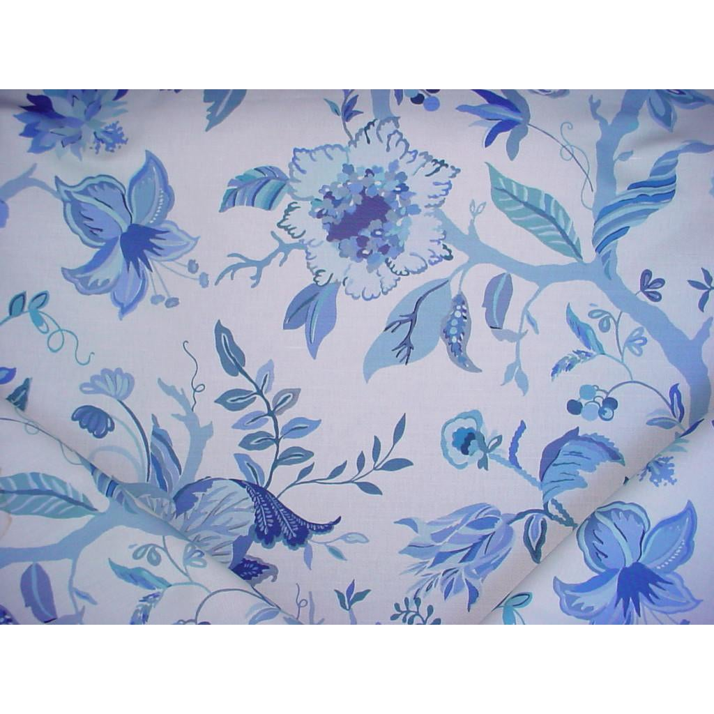 Modern Lee Jofa 2013122 515 Sayre Blue Print Floral Drapery