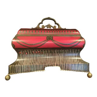 Handpainted Trompe l'Oeil Toleware Decorative Case