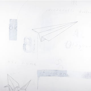 Paper Airplane Graffiti Painting by Ron Giusti For Sale