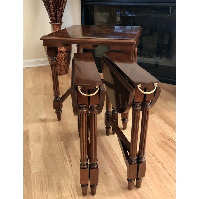 Traditional Gordon's Fine Furniture Nest of Tables - Set of 3 For Sale - Image 12 of 13