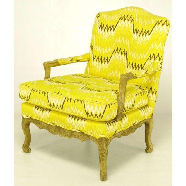 Pair Erwin-Lambeth Louis XV Style Arm Chairs & Ottoman - Image 3 of 10