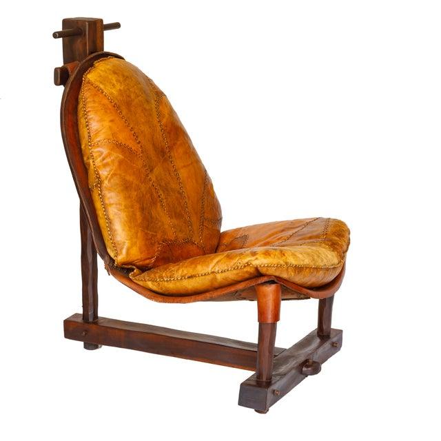 Rare Brazilian Modern Chair & Ottoman - Image 2 of 4