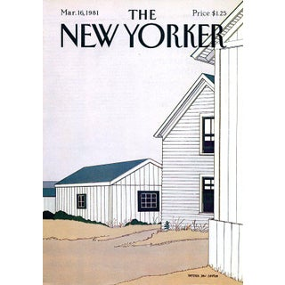 Vintage 1981 New Yorker Cover, March 16 (Gretchen Dow Simpson), New England, Architecture For Sale