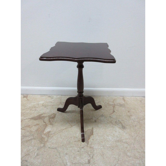 Bombay Company Cherry Lamp End Table Pedestal Stand - Image 11 of 11