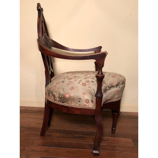 French Early 20th Century Antique French Louis XV Style Chair For Sale - Image 3 of 5