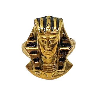 Vintage Egyptian Revival Pharaoh Souvenir Ring For Sale