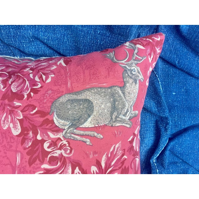 Vintage F. Schumacher Woburn Meadow Deer Pillows - A Pair - Image 5 of 10