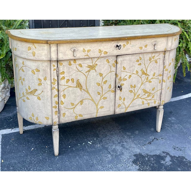 1990s Equator Furniture Company Rustic Painted Sideboard Buffet Credenza Cabinet For Sale - Image 5 of 8